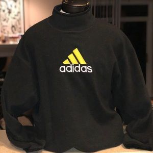 Adidas fleece sweatshirt moc neck large